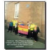 Blue Plaque to Basque Children at Montrose