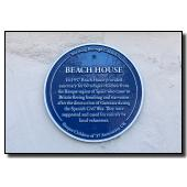 Blue Plaque at Beach House