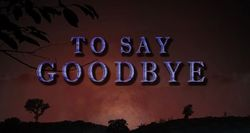 To Say Goodbye 2